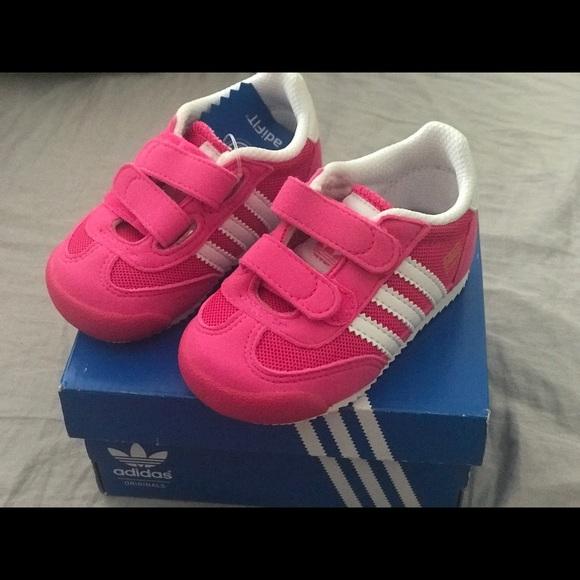 Adidas Dragon Pink Sneakers Girls toddler size 4